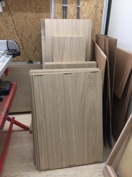 Panelen klaar voor gebruik